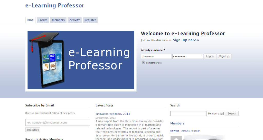 e Learning Professor